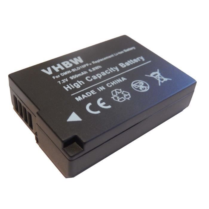 Batterie de secours pour appareil photo Panasonic Lumix DMC-GF2, DMC-GF2C, DMC-GF2K, DMC-GF2KEG-K, DMC-GF2CK, DMC-GF2CR, DMC-GF2C…