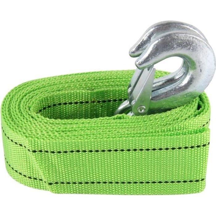 Corde de remorquage Voiture Zongyuan 3m × 4cm 3 tonnes élastique force sangles avec deux crochets à haute résistance du cordon câble