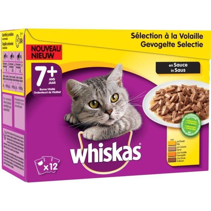 WHISKAS - Pâtée aux volailles - Pour chat - 12 boites de 100G