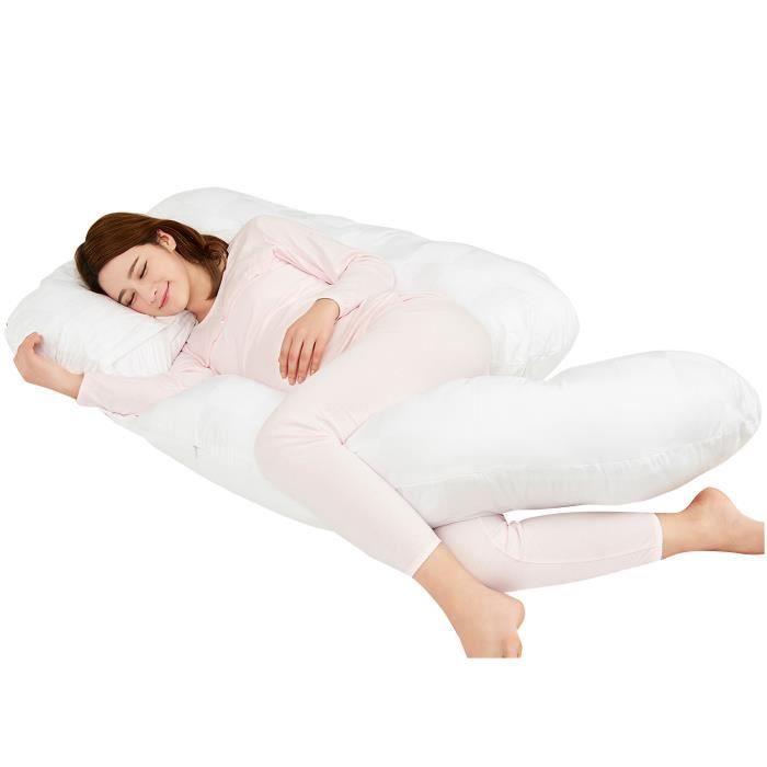 Coussin de maternité - grossesse et allaitement - 150cm - blanc