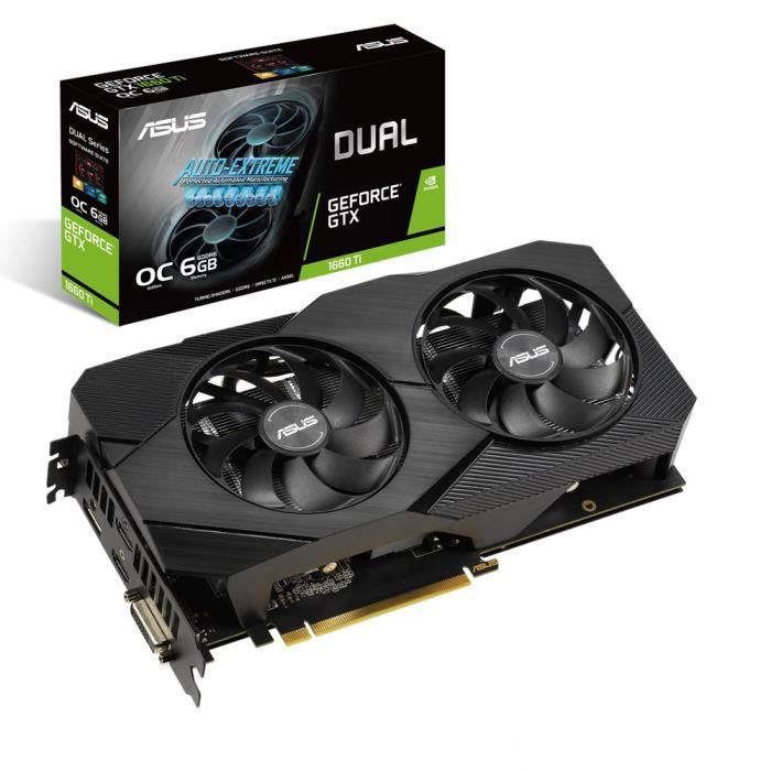 CARTE GRAPHIQUE INTERNE ASUS DUAL-GTX1660TI-O6G-EVO GeForce GTX 1660 Ti 6