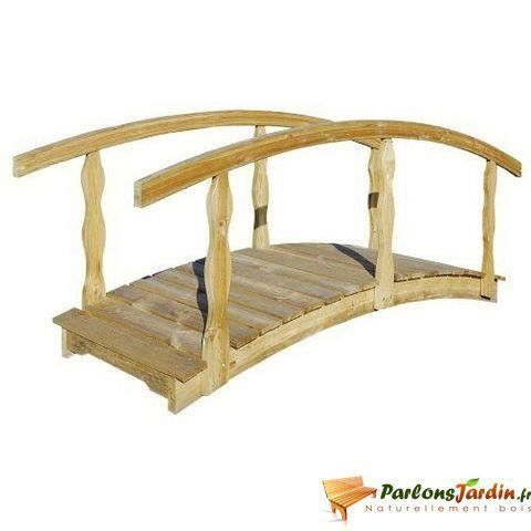 pont de jardin en bois qu bec grand mod le achat vente pont pont de jardin en bois qu b. Black Bedroom Furniture Sets. Home Design Ideas