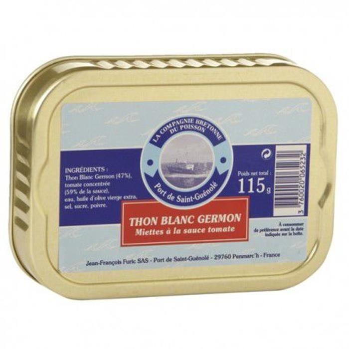 PRODUIT DE THON Miettes de thon blanc Germon à la tomate, 135 gr