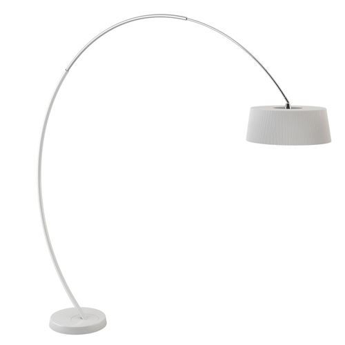 lampadaire en arc hoop blanc mate achat vente lampadaire en arc hoop blan acier pmma. Black Bedroom Furniture Sets. Home Design Ideas