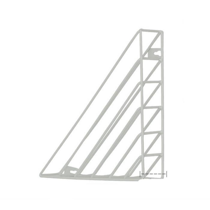 PORTE-REVUE 1pcs Support de rangement mural simple-   blanc