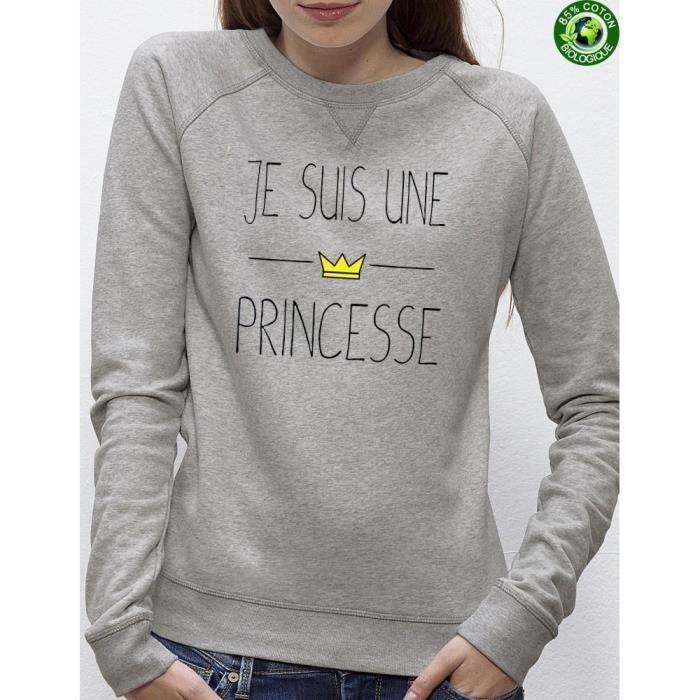Sweat Femme Princesse Couleur:Gris Taille:L Gris Achat