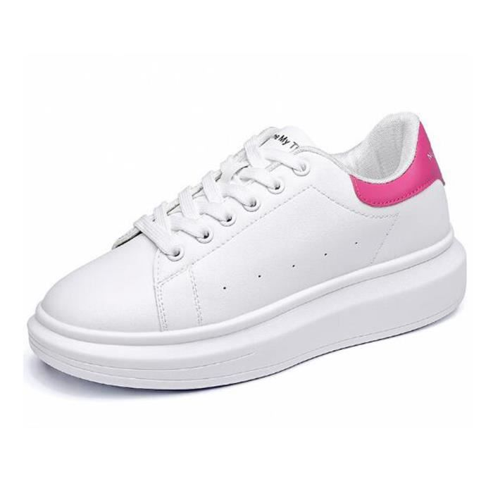 Skate Blanc Shoes Rose Mode Femme Chaussures Chaussure Cuir Basket wX8OkPnZN0