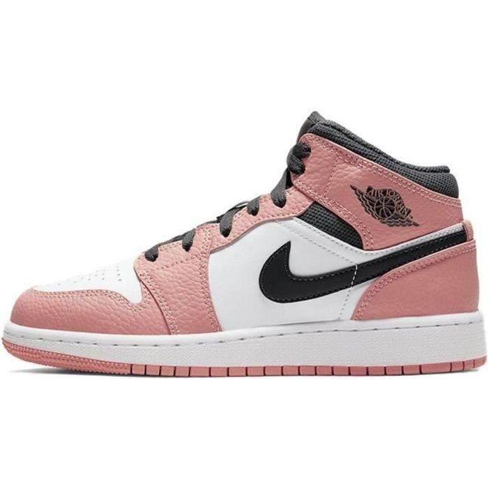 Basket Jordans 1 Mid Pink Jordans one AJ 1 pour Femme AJS590786 ...