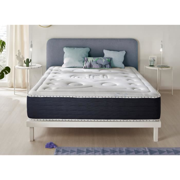 matelas senso fresh 140x190 cm blue latex 7 zones visco gel achat vente matelas cdiscount. Black Bedroom Furniture Sets. Home Design Ideas