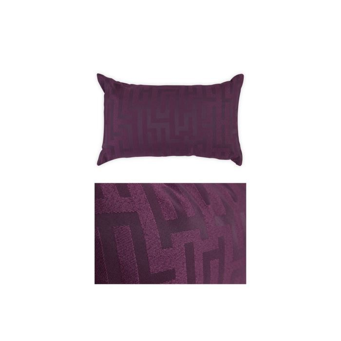 coussin 50x30 cm style design violet achat vente. Black Bedroom Furniture Sets. Home Design Ideas