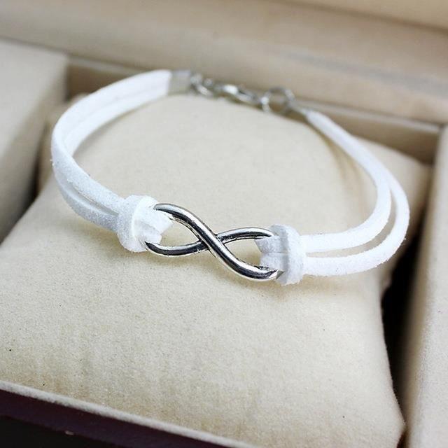 bracelet cuir infini