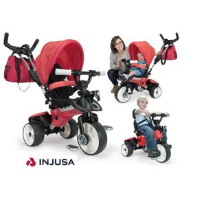 INJUSA Tricycle enfant évolutif City Max Rouge