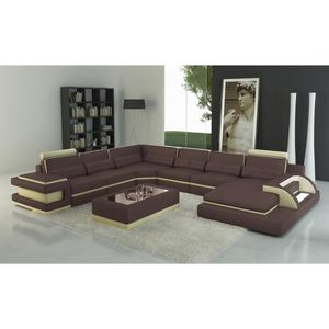 canape beige marron achat vente canape beige marron pas cher cdiscount. Black Bedroom Furniture Sets. Home Design Ideas