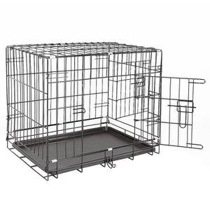 CAISSE DE TRANSPORT 91*58*64cm Cage pliable pour chien animaux en meta