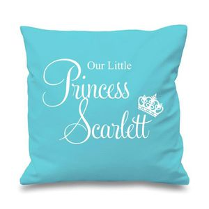 Personnalisé aeiral toddler princesse housse de coussin votre nom-cadeau de noël