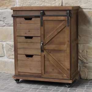 BUFFET - BAHUT  Meuble Semainier Bahut Commode Industriel Campagne