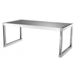 TABLE À MANGER SEULE Casa Padrino table à manger en argent avec verre f