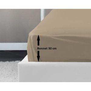DRAP HOUSSE LOVELY HOME Drap Housse 100% coton 140x190x30 cm b