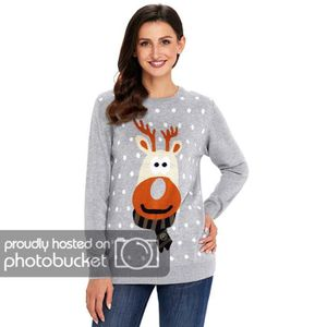 PULL Pull Noël Femme Manches Longues Christmas Grande T