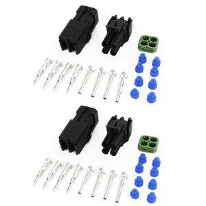 HAUT PARLEUR VOITURE 2 Kits Hermétique Connecteur Imperméable 2.5mm Ter