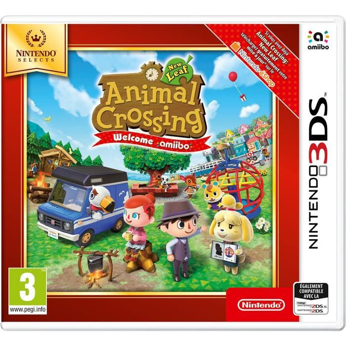 Animal Crossing New Leaf Welcome Amiibo 3DS Jeu Nintendo Selects