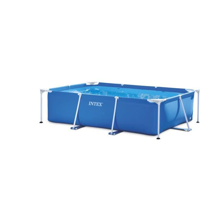 intex piscine tubulaire rectangulaire metal frame 2 6 x 1