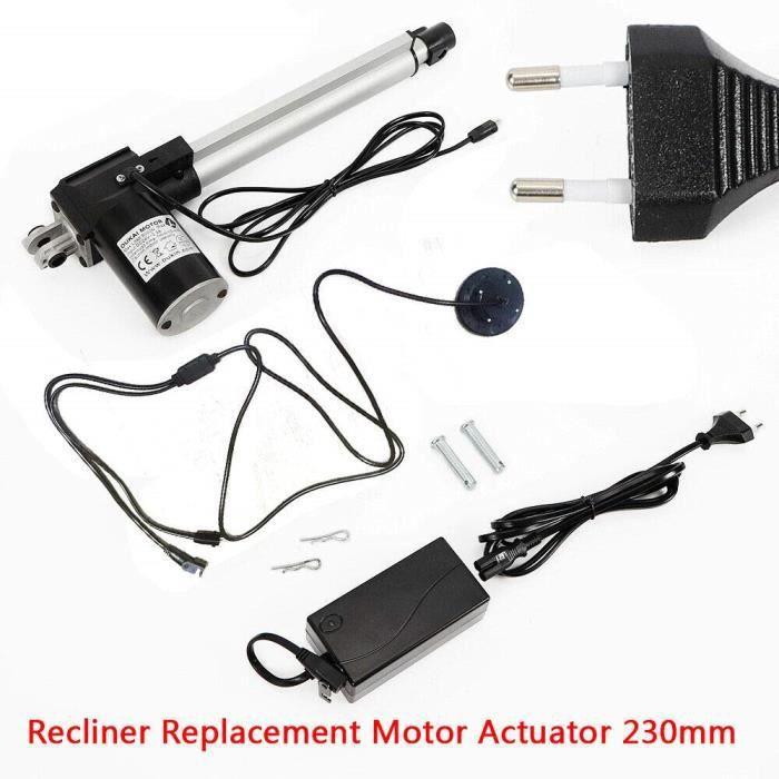 Moteur électrique linéaire 230 mm Reclinear Actuator 24 V pour chaises électriques