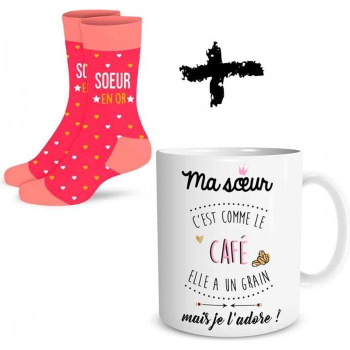 Ensemble mug et chaussettes Soeur