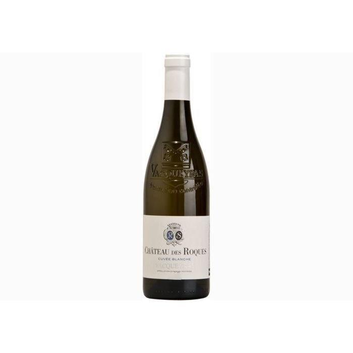 6 bouteilles - Vin blanc - Tranquille - Chateau des Roques Cuvée Blanche Vacqueyras Blanc 2018 6x75cl