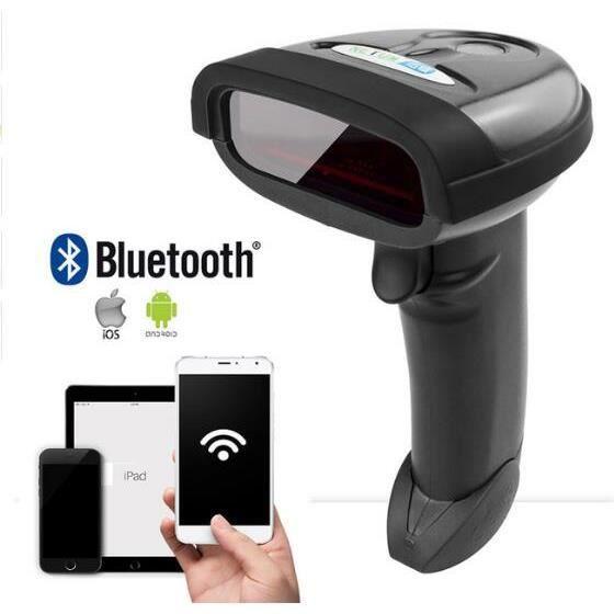 Bluetooth Sans Fil Barcode Scanner Portable Laser 1D Bar Code Reader pour Android et ios iphone