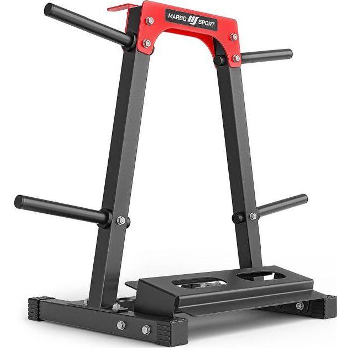 Marbo Sport Support pour poids de musculation Râtelier de Rangement pour Disques de Poids MH-S207