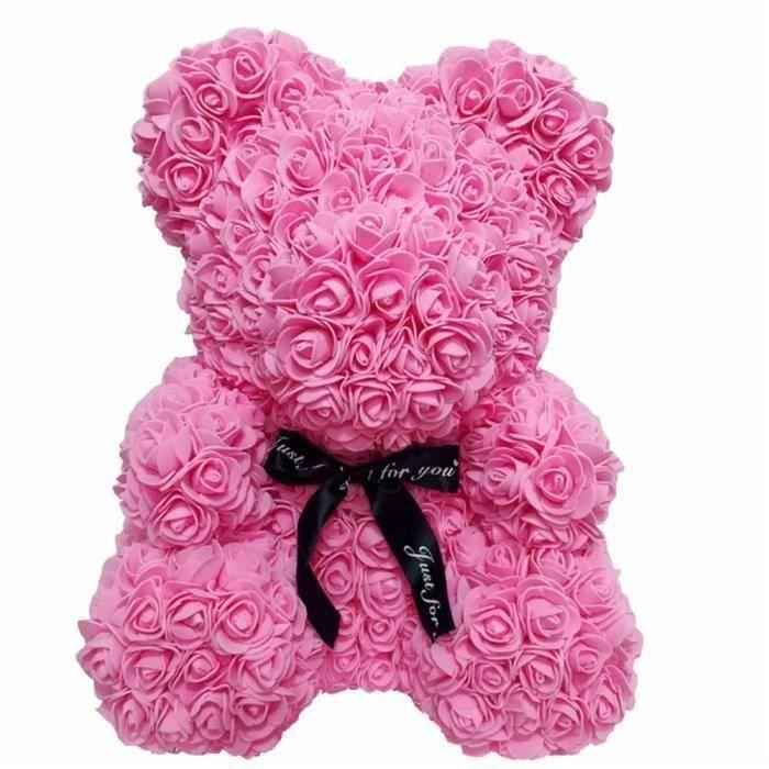 Rose Fleur Saint Valentin Ours Des Rose pour Cadeau d'anniversaire Cadeau de la Saint-Valentin Décoration de Mariage - ROSE