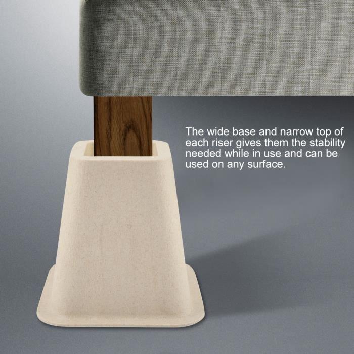 4 pcs élévateurs de lit et de meubles en porcelaine d'imitation avec le design 'Elephant Feet' pour table bureau chaise lit