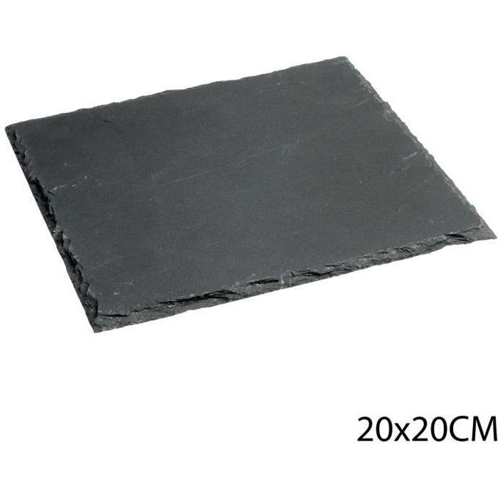 Assiette en ardoise - L. 20 cm