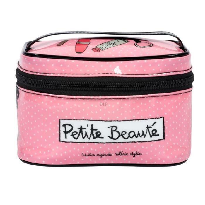 Petit Vanity PETITE BEAUTÉ Rose - Mini Trousse à Accessoires Maquillage de Rangement Voyage Nécessaire - DLP Derrière La Porte
