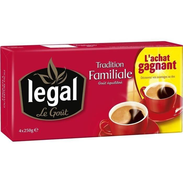 LEGAL : Café moulu 4x250 g