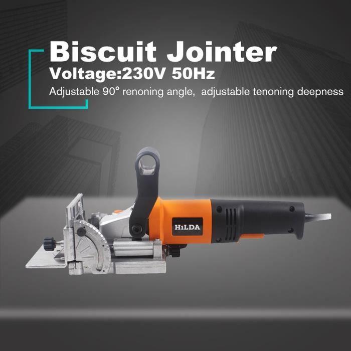 Dégauchisseuse de biscuits 760W, tenonneuse, biscuit électrique, rainureuse électrique, machine de puzzle électrique 230V 50Hz