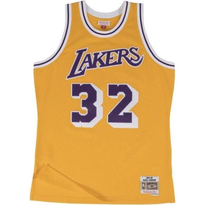 Maillot NBA swingman Magic Johnson Los Angeles Lakers 1984-85 Hardwood Classics Mitchell & ness jaune