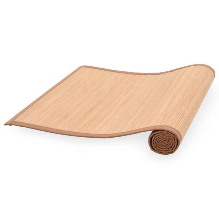 Tapis de yoga Bambou 60 x 180 cm Marron