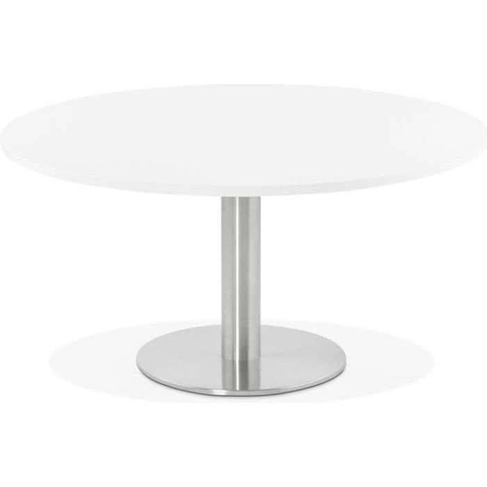 Table basse Ronde Blanche - 90 x 90 x 45 cm