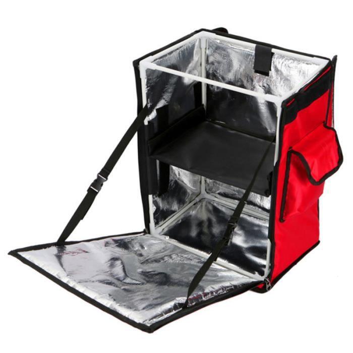 1 Pc à emporter sac à dos Double couche fourre-tout pratique support de GLACIERE - SAC ISOTHERME - ACCUMULATEUR DE FROID