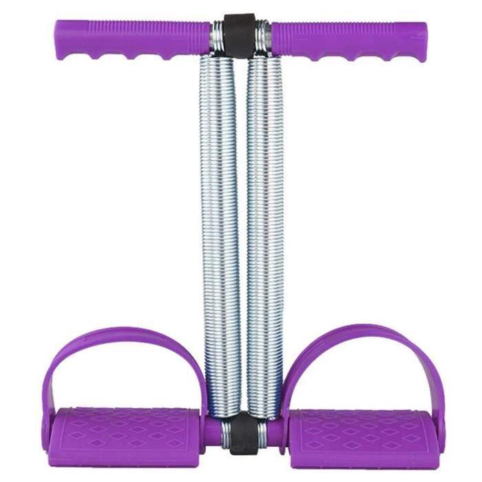 Bandes Multifonctionnelles De Résistance Corde De Formation, Elastic Sit Up Pull Rope Ressort Tension Pédale Abdomen - Violet