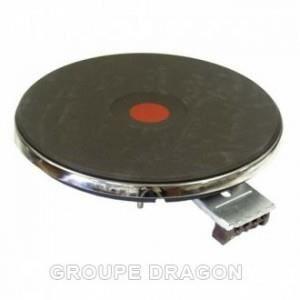 Plaque ego 8mm 230v rapide (point rouge) pour plaque de cuisson WHIRLPOOL 230V 8MM cadre en inox, lié