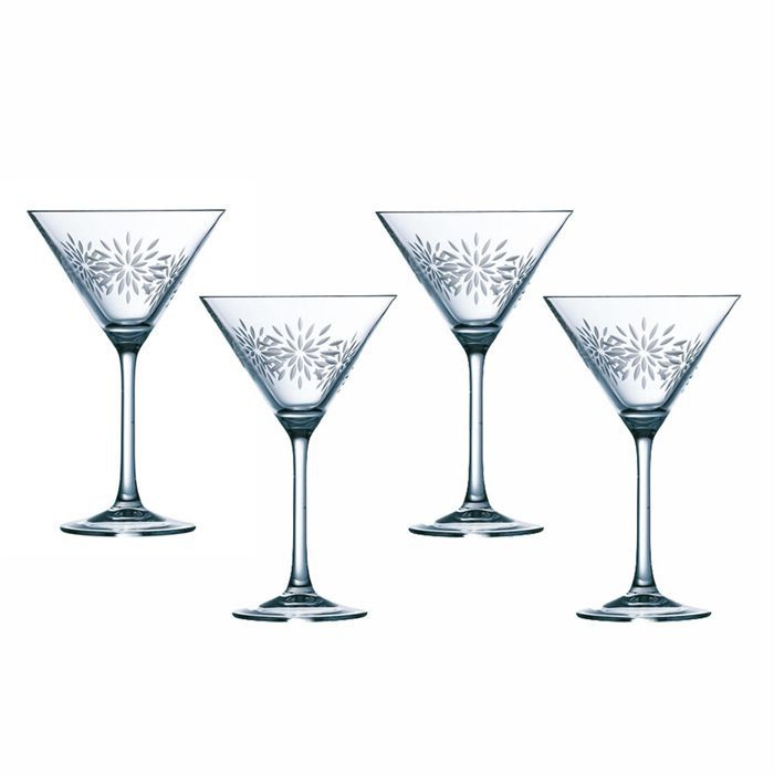 happy cristal lot de 4 verres cocktail 30cl achat vente verre cocktail cdiscount. Black Bedroom Furniture Sets. Home Design Ideas