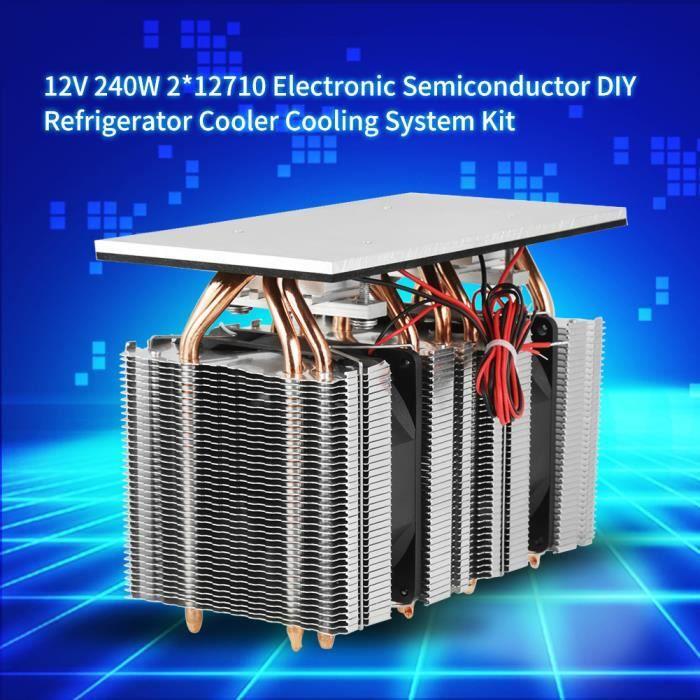 CLIMATISEUR FIXE 12V 240W 2 * 12710 électronique Semi-conductor DIY