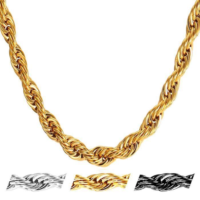 collier homme corde