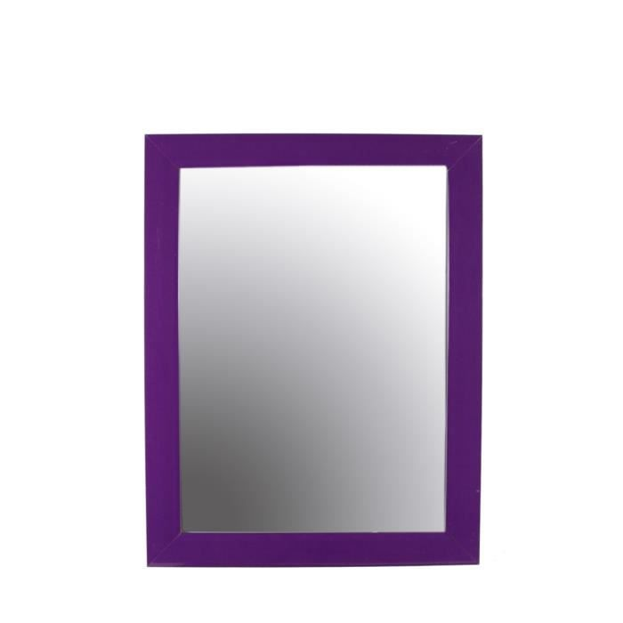 miroir rectangulaire 36 x 46 cm violet achat vente. Black Bedroom Furniture Sets. Home Design Ideas