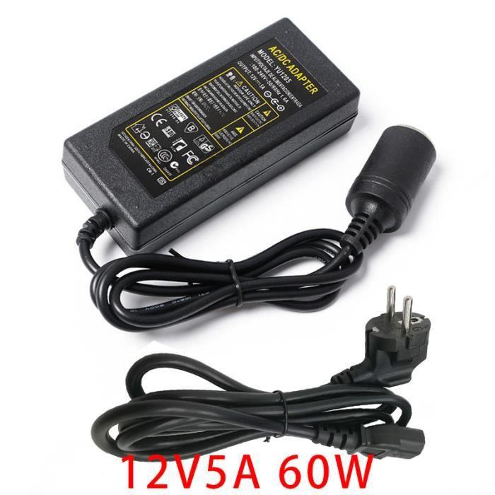 Voiture Power Inverter AC 100 universel 12 V DC 5 A Chargeur Alimentation 240 V principal