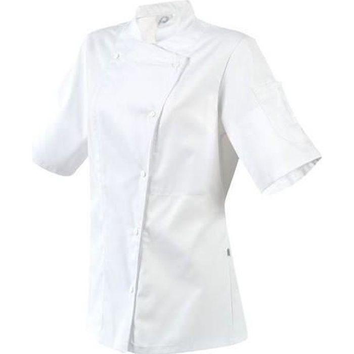 Veste Blanc Manille Cuisine Manches De Courtes Femme Robur 8O0Pnwk