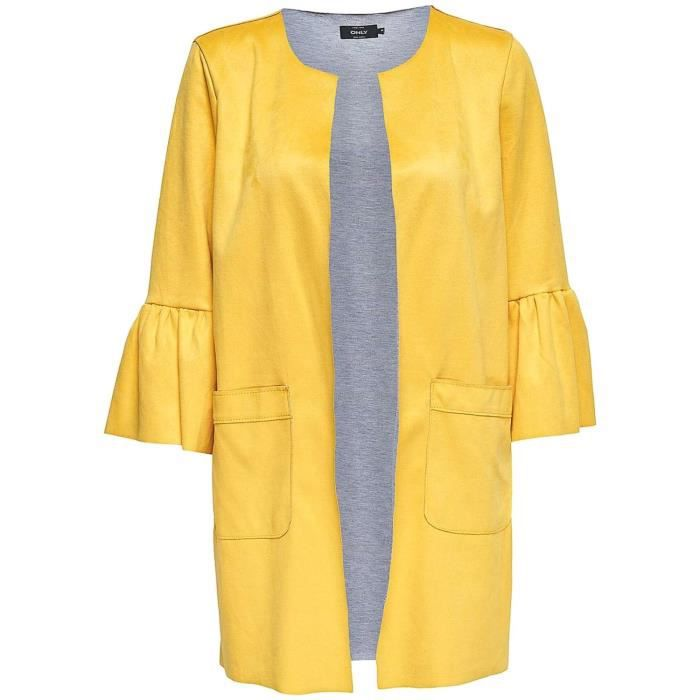 to buy outlet on sale 100% authentic Manteaux Only Eva Jaune Jaune Jaune - Achat / Vente manteau ...